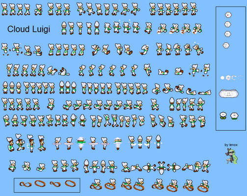 Cloud Luigi MLSS sprite sheet [request]