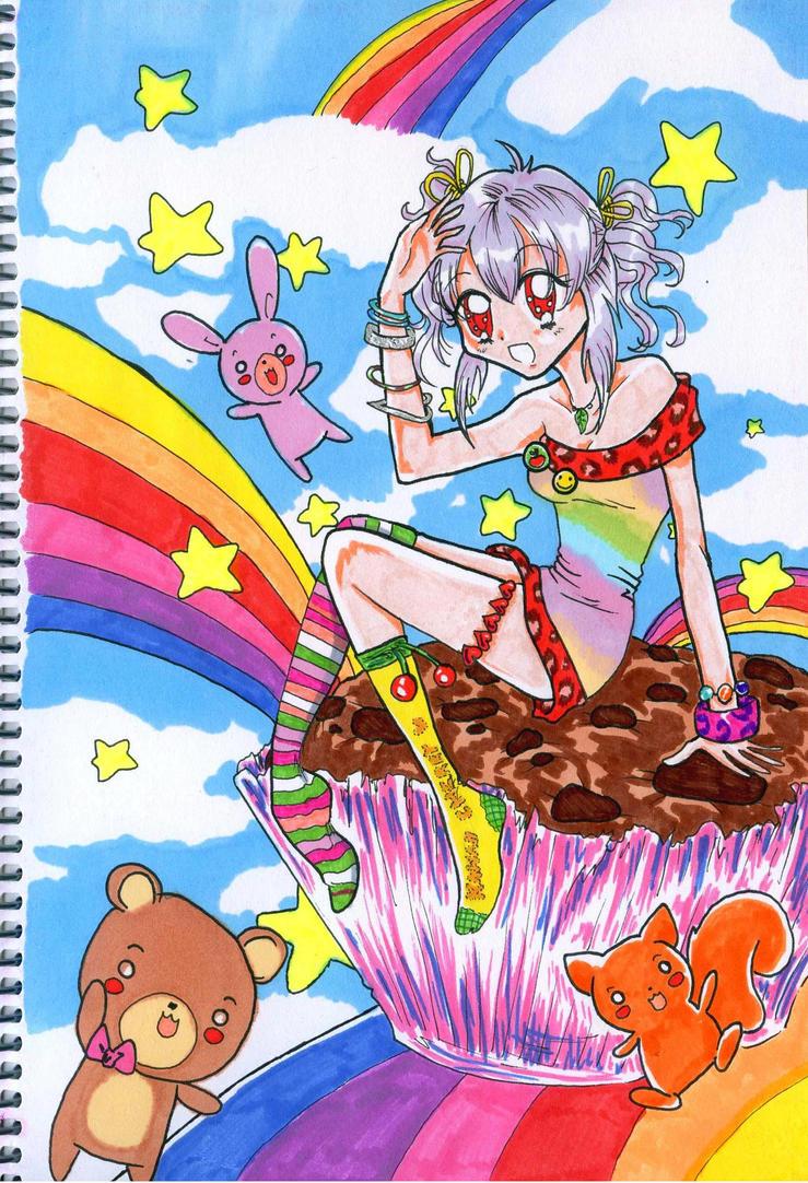 Rainbow Ame by nanako87