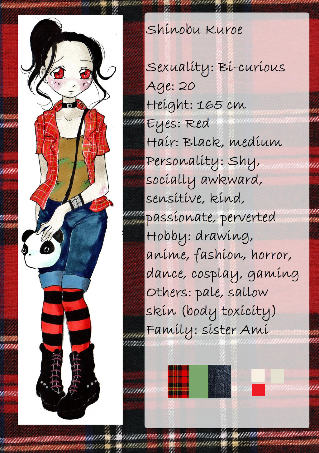 Shinobu character sheet by nanako87