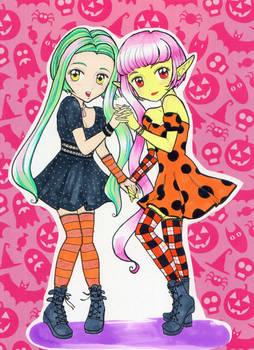 MangaModel Melissa and Moeru halloween