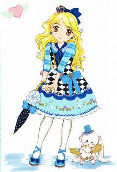 MangaModel coloring book: Alice in Wonderland