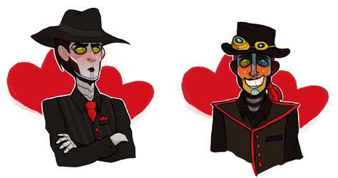 blushing robots