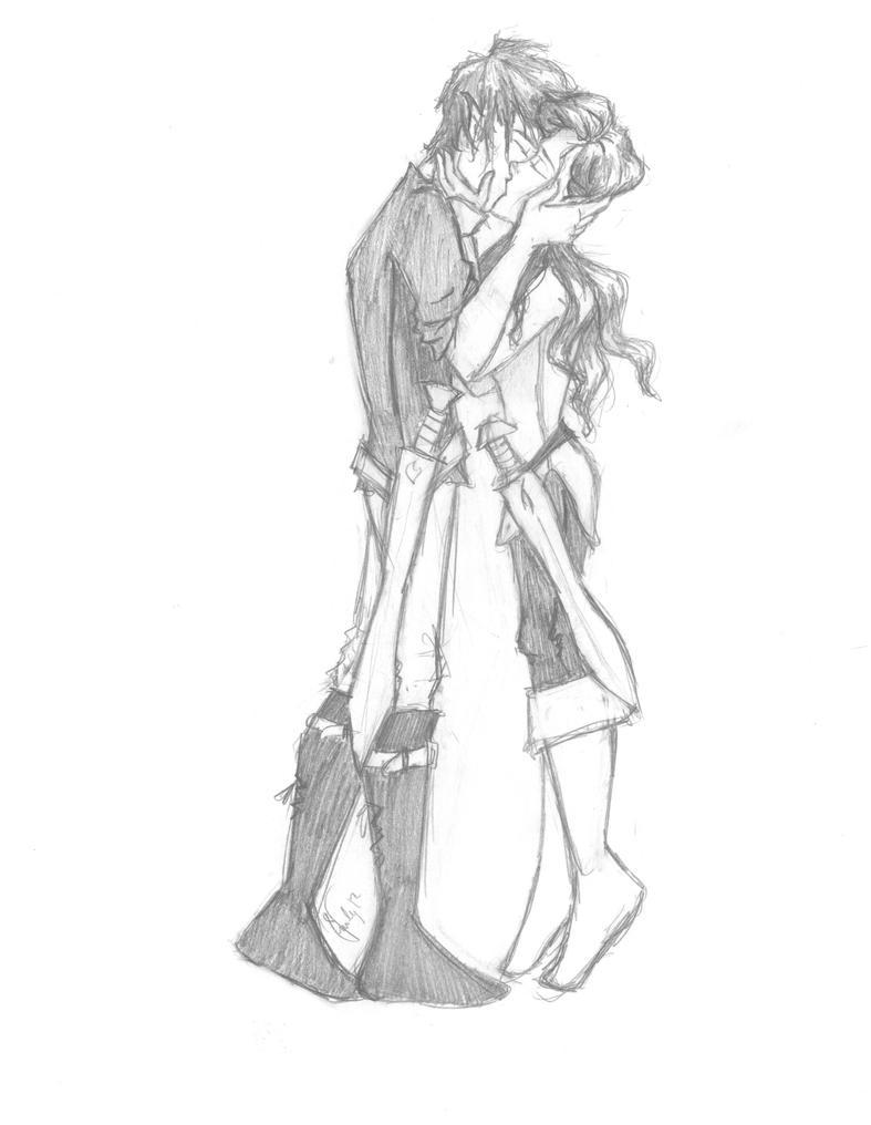 Scanned Eragon and Arya by Eragon And Arya Drawings