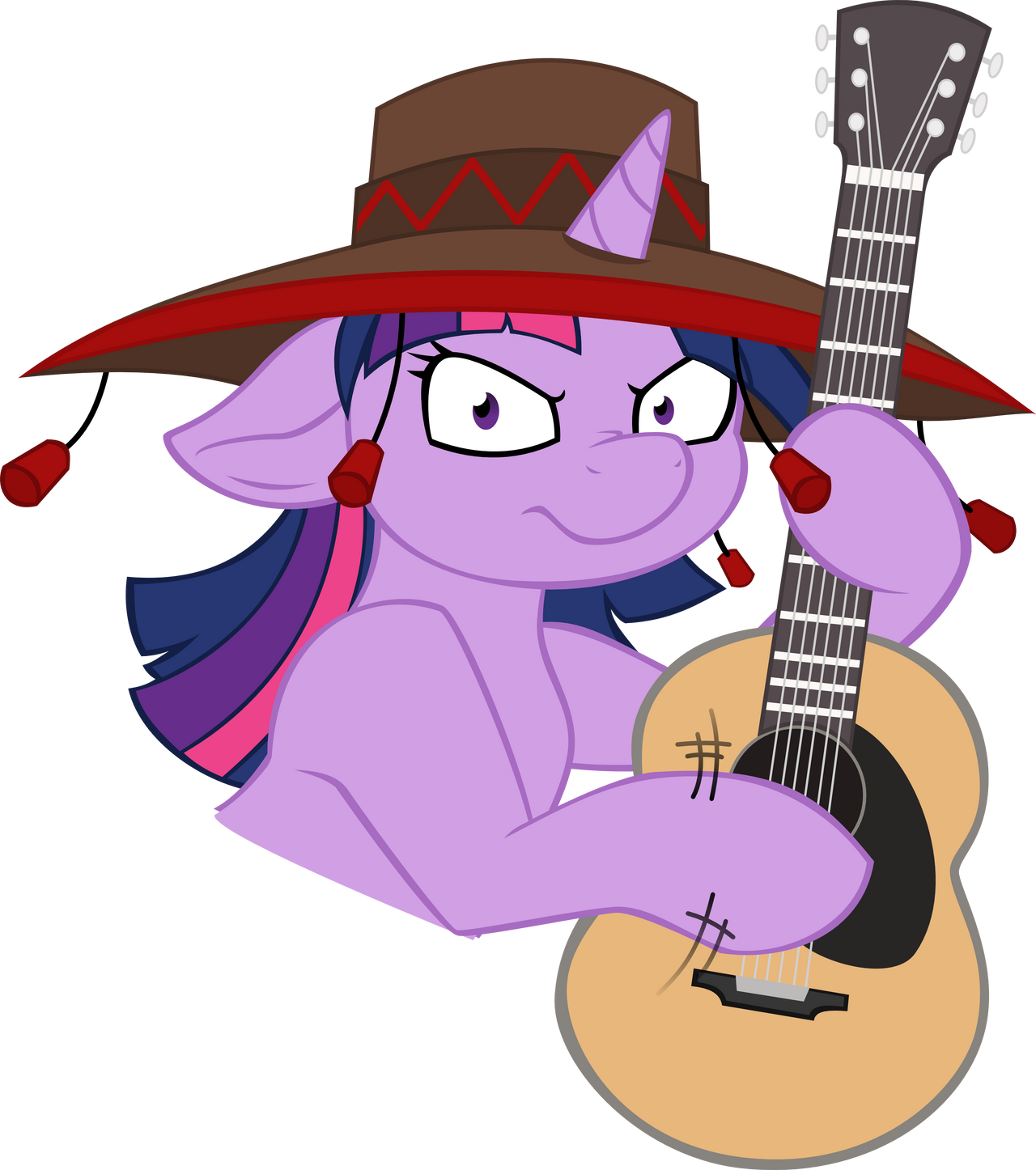 Twilight Plays the Guitar Angrily with a Funny Hat by Jerick