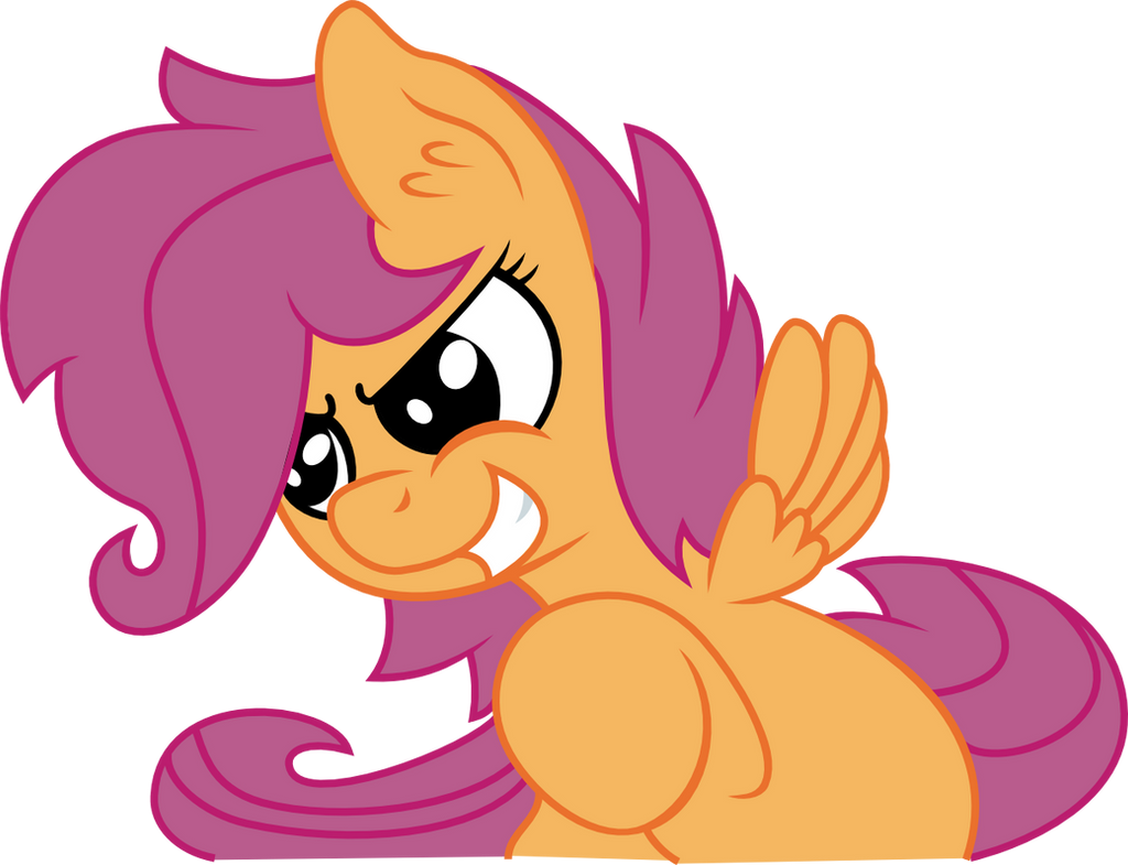 Scootaloo Looking Adorbs by Jerick