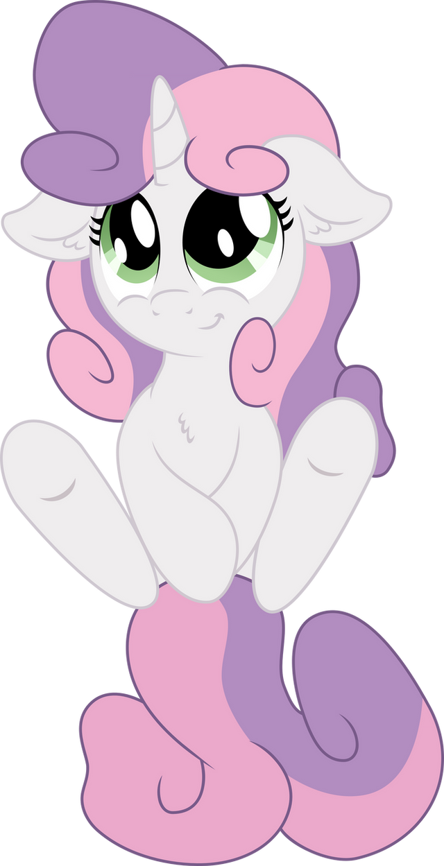 Sweetie Belle looking for Belly Rubs by Jerick