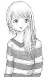 random anime girl by Nimsaj-san