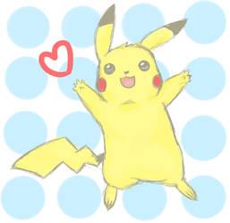 cute Pikachu by Nimsaj-san