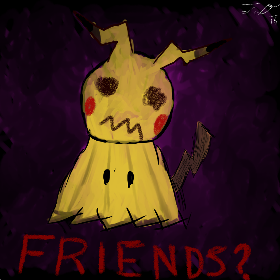 Mimikyu - Can't we be friends? by Rainboom-Dash
