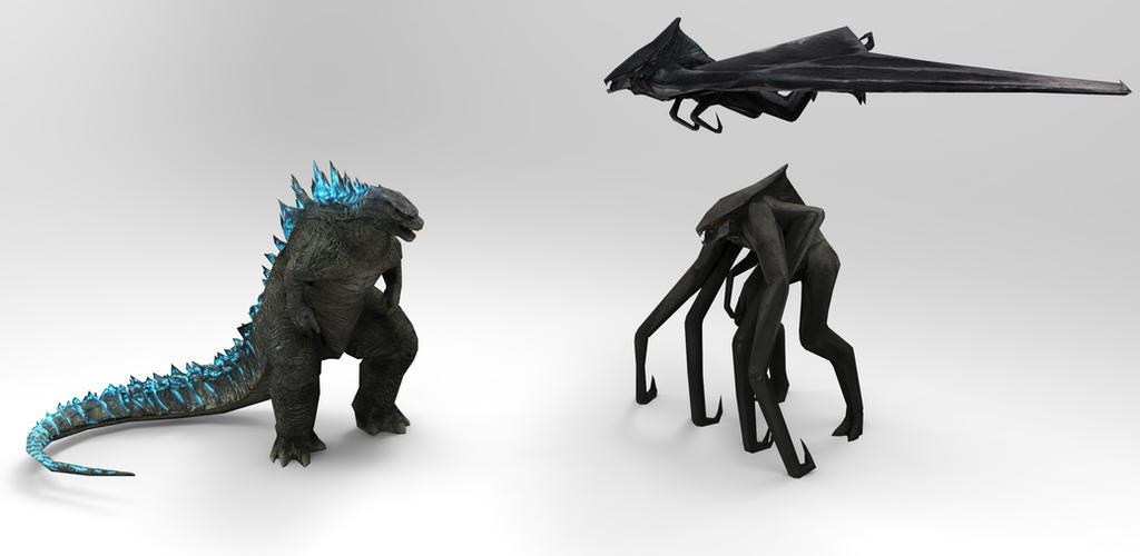 Godzilla vs MUTO [2] by papkapapka on DeviantArt