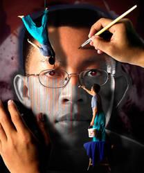 Painting self portrait by PansaSunavee