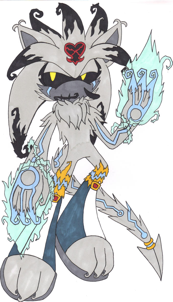 Heartless Sonic Characters Heartless Silver  by