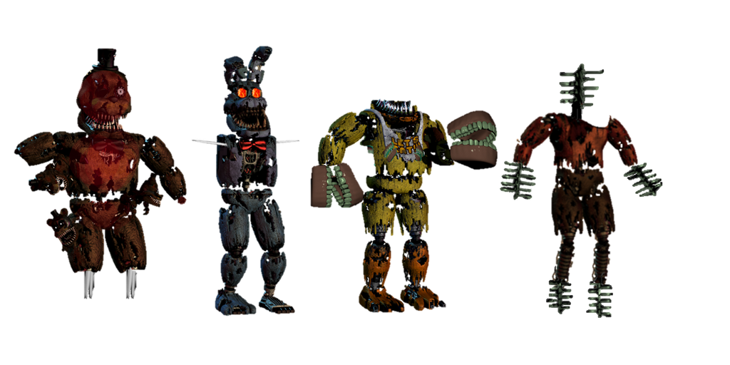 Fnaf 4 fnati nbd animatronics by fnatirfanfullbodies on deviantart