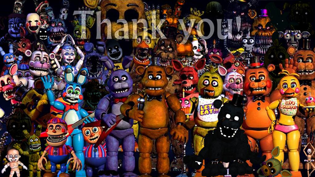 Fnaf Thank You(all Animatronics) by fnatirfanfullbodies on