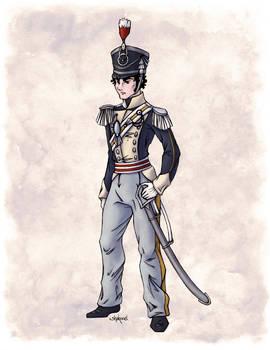 Captain Benjamin Shedfield in Colour