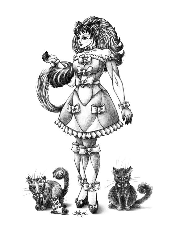 Cat Goddess by Shakoriel