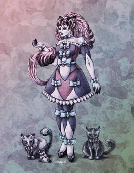 Cat Goddess in Colour