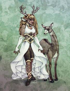 Deer Goddess in Colour