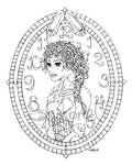 Cinderella (lineart)