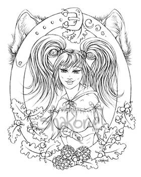 Red Riding Hood (lineart)