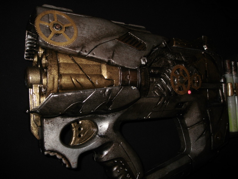 steampunk gun: barrel detail by ToddryElliott