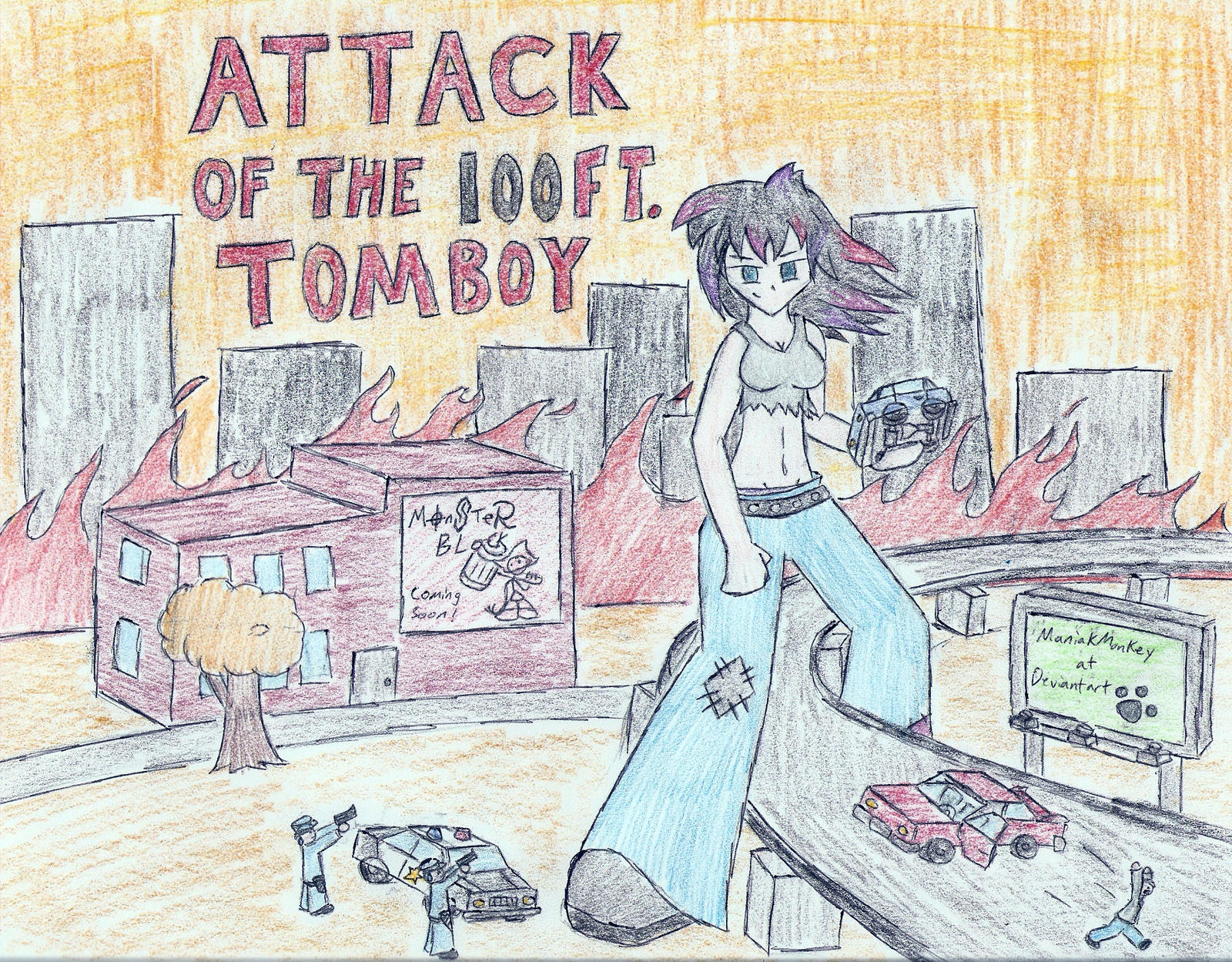 Attack of the 100ft Tomboy by ManiakMonkey