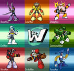 The Robotmasters of MegaMan 10