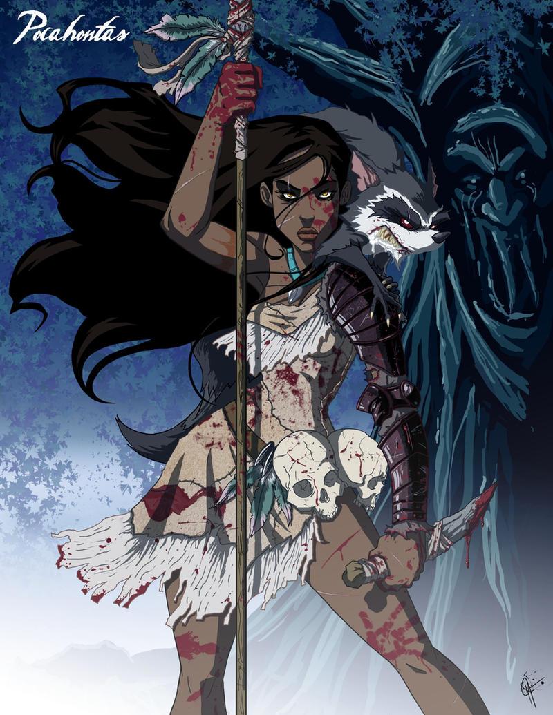 Part 14 / 7 Twisted_Princess__Pocahontas_by_jeftoon01