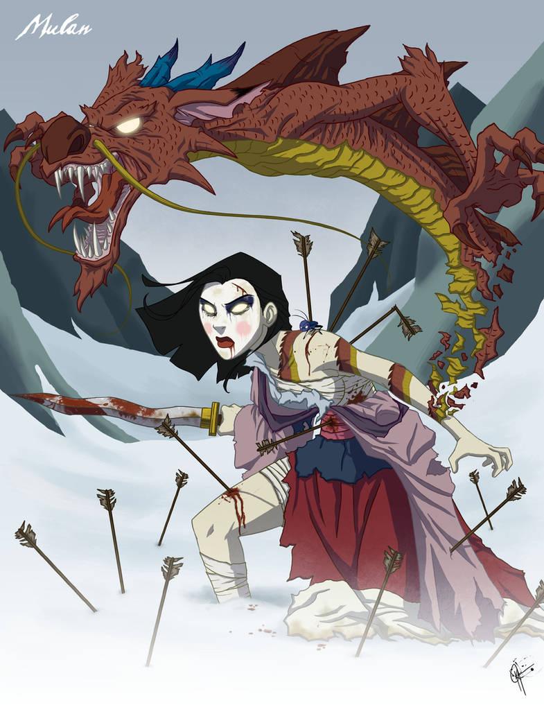 Twisted Princess: Mulan by jeftoon01
