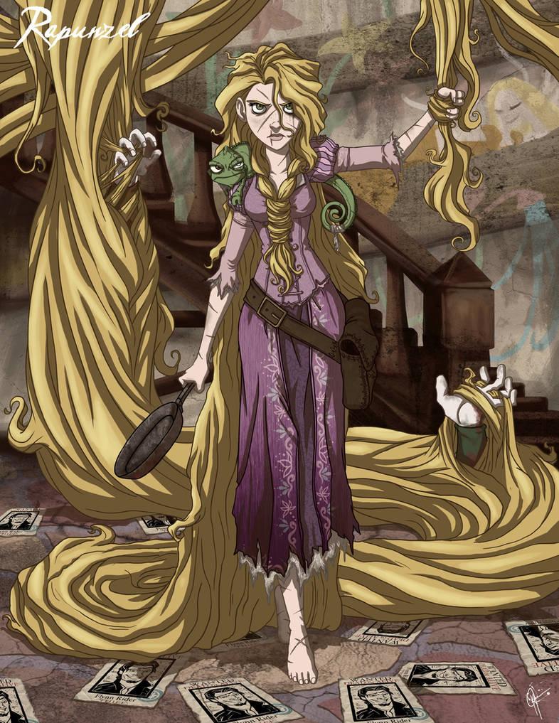 Twisted Princess: Rapunzel by jeftoon01