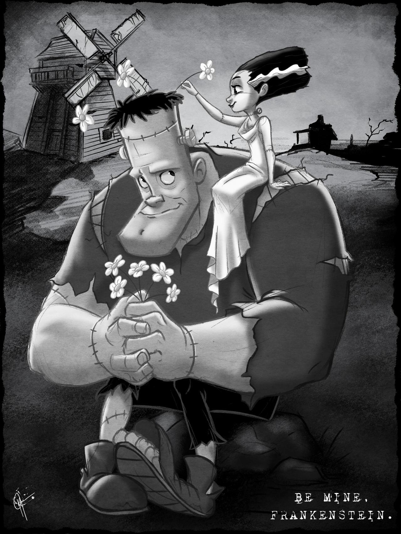 Be Mine, Frankenstein. by jeftoon01