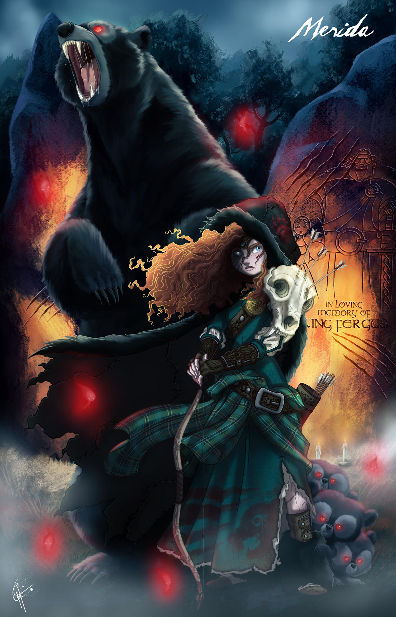 Merida As A Princess Twisted Princess Merida By Jeftoon Dybkbo