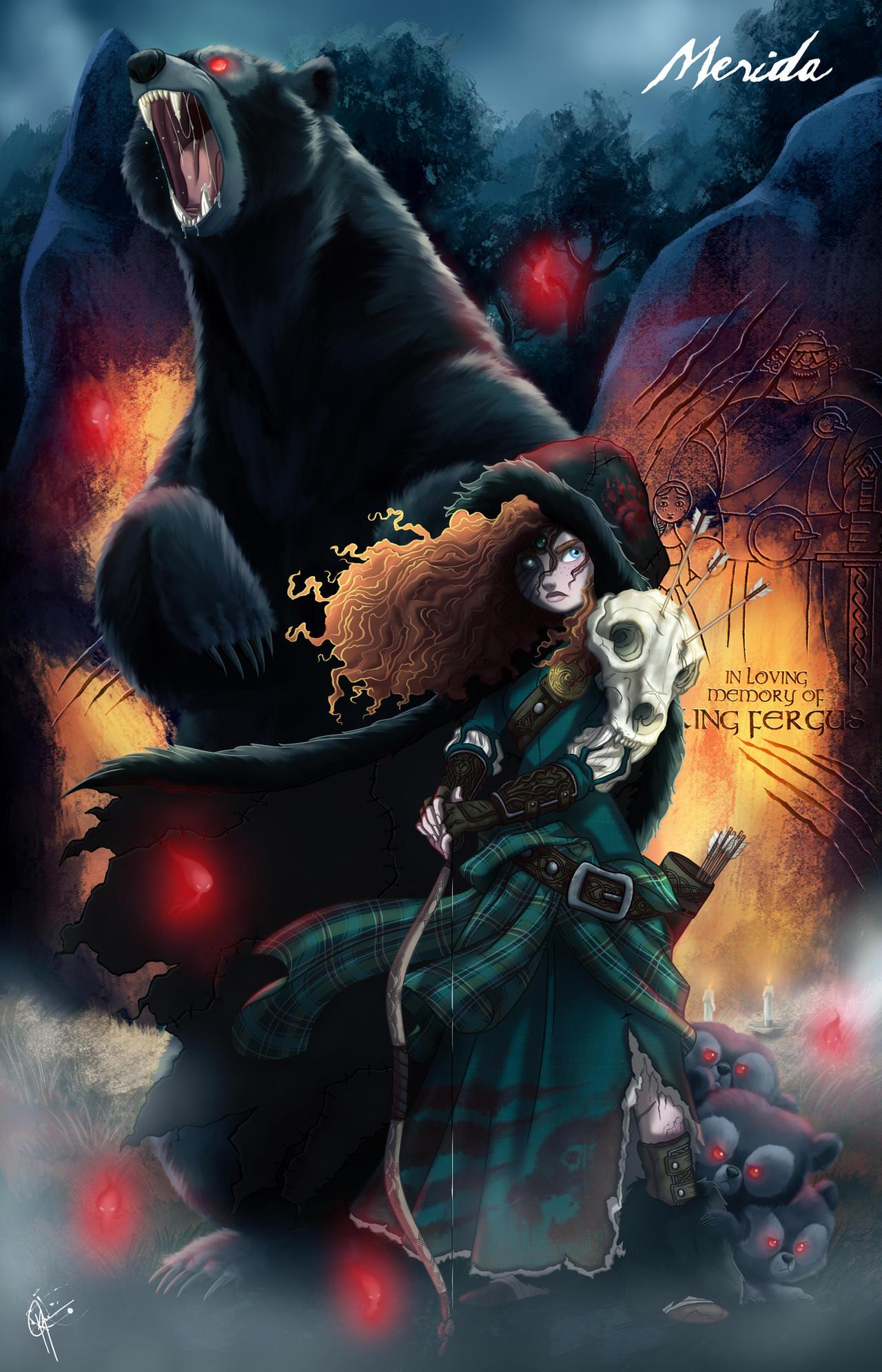 Galeria de Arte: Ficção & Fantasia 1 - Página 6 Twisted_princess__merida_by_jeftoon01-d7ybkbo