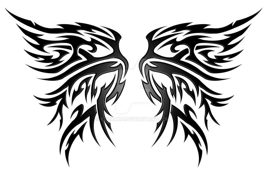 Wings Tribal V2 By Kuroakai On Deviantart