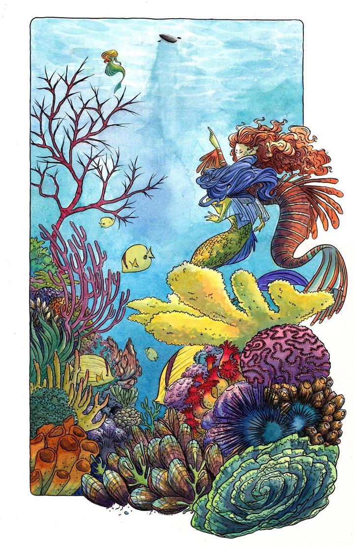 Three Mermaids by RachelCurtis