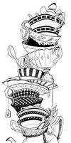 Teacups- Inks by RachelCurtis