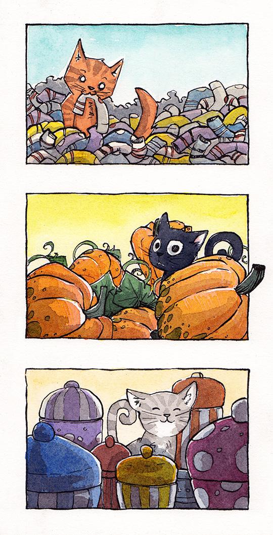 Cat Triolarger by RachelCurtis
