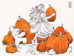 Day 3 - Kitty and Mrawh and the pumpkin patch