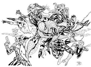 Guile's Spiderman Inks