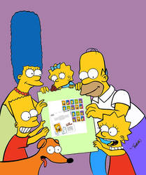 Simpsons First Day Cover USPS