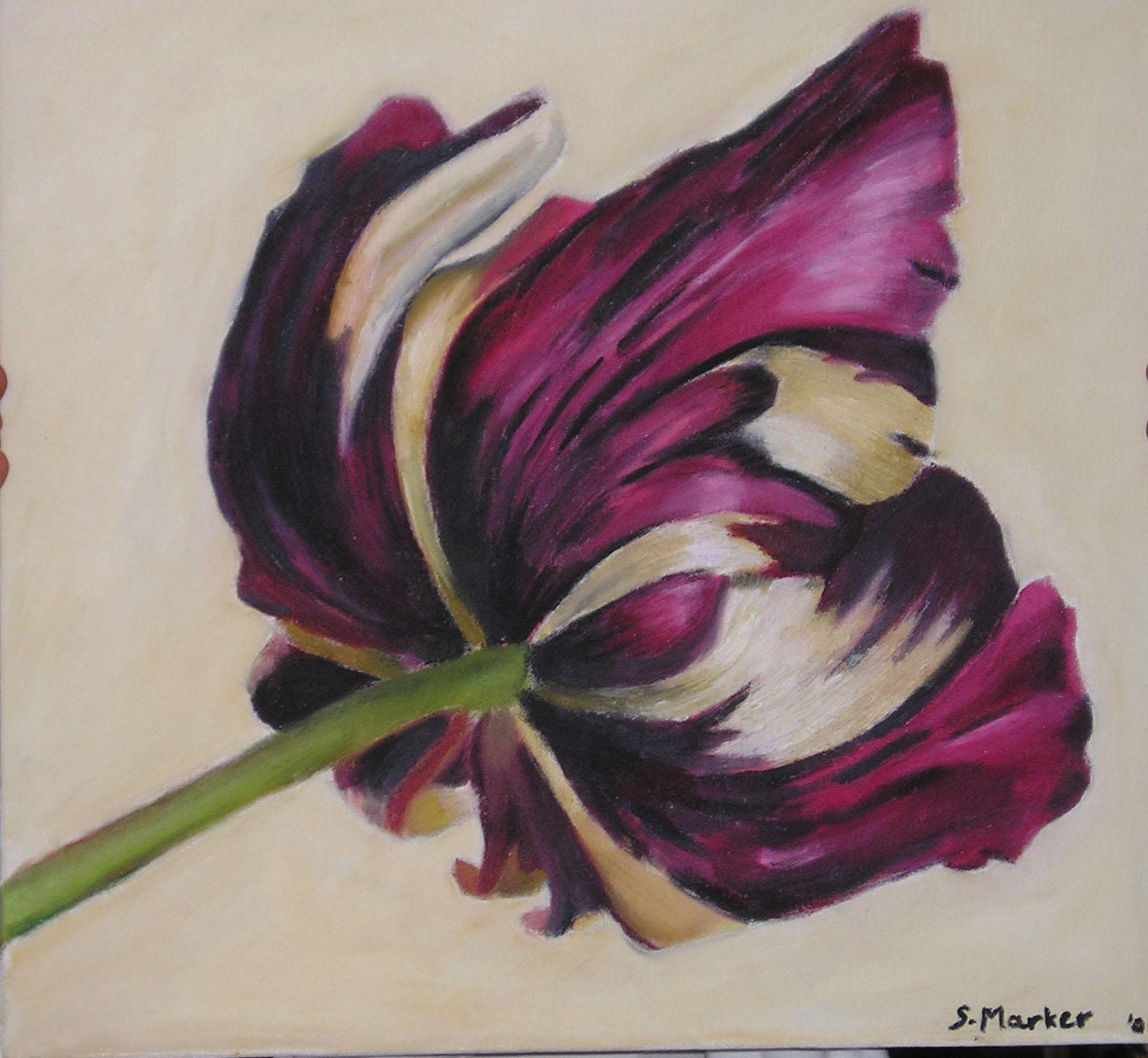 oil painting flower by...