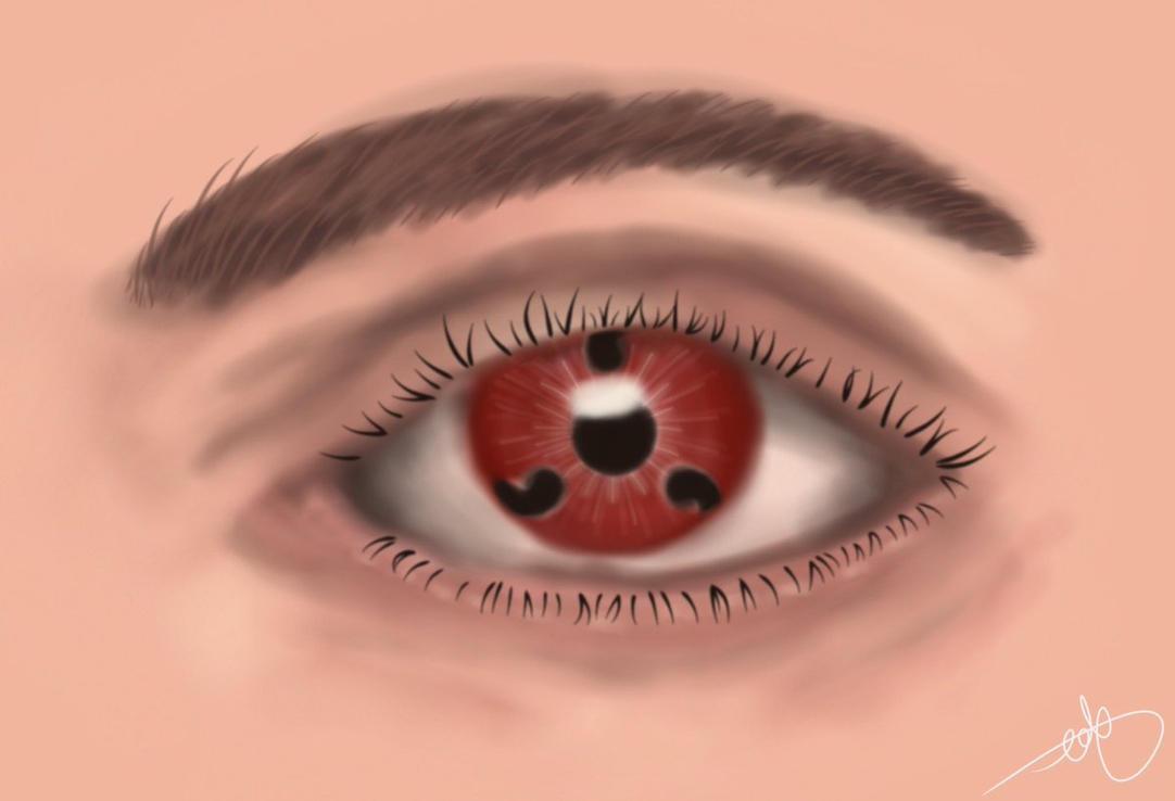 Naruto - Sharingan Eye by Frosty-Art