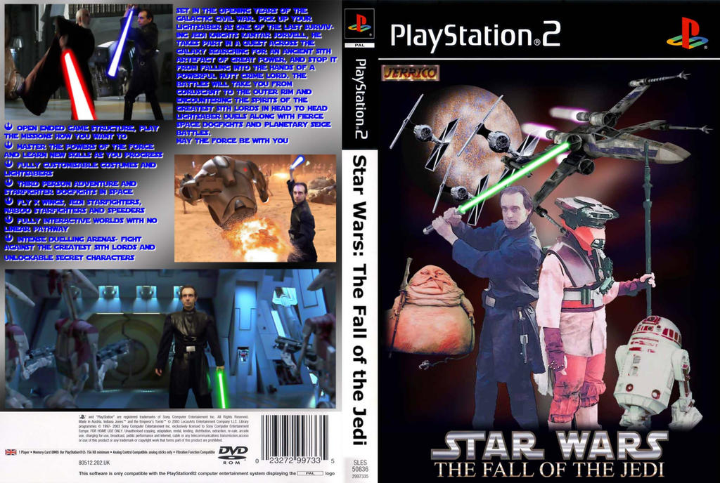 Fall of the Jedi PS2 Sleeve by Jedi-Knight-Art on DeviantArt