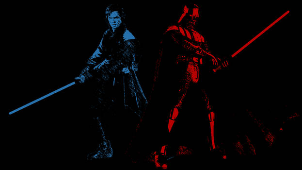 Anakin Skywalker and Darth Vader