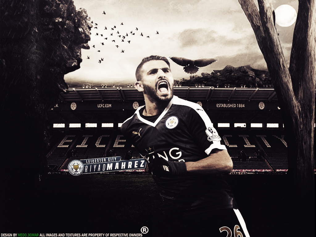 Riyad Mahrez Wallpaper By Medo3omarGfx On DeviantArt