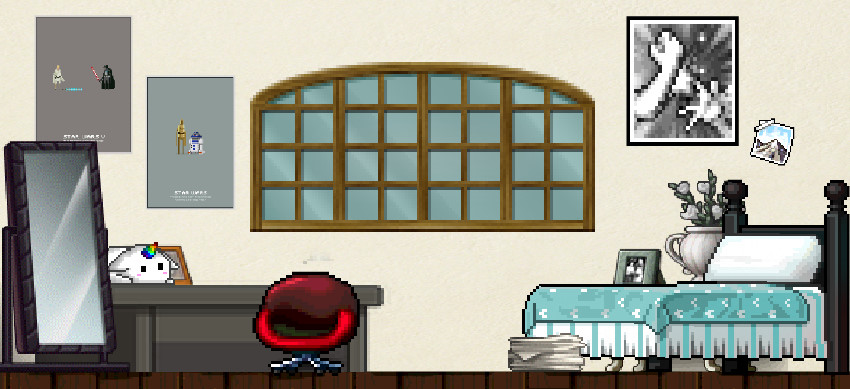 Custom BannedStory Background Bedroom 1 By XGhostielol