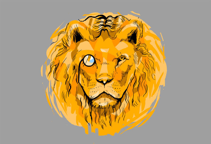 Lion hipster - photo#48