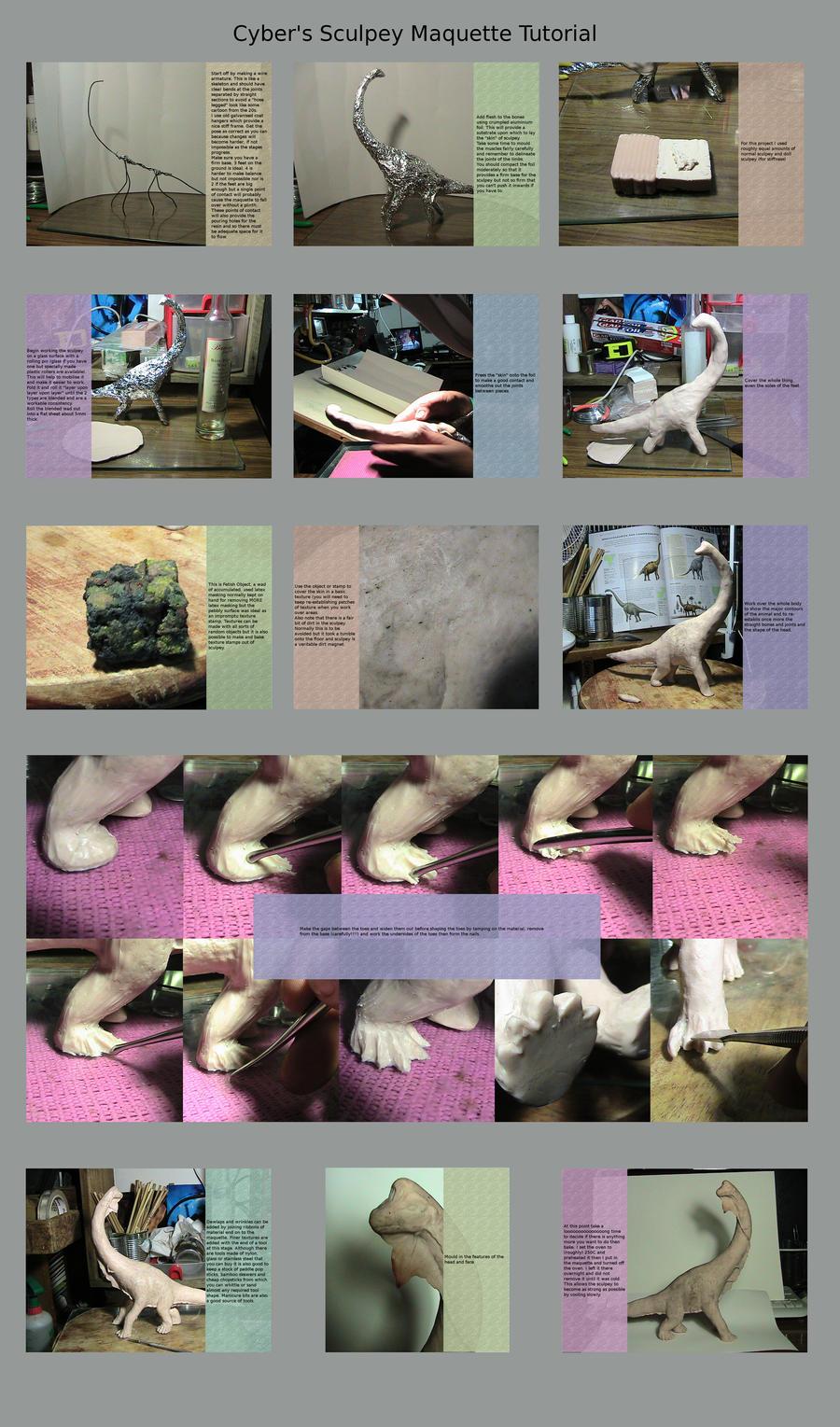Cyber's Sculpey Maquette tute by cybernetichero