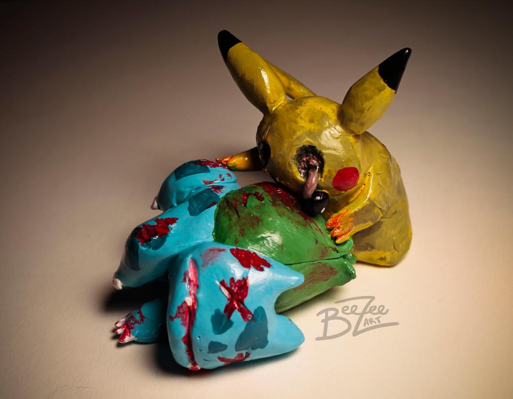 Zombie Pikachu by BeeZee-Art