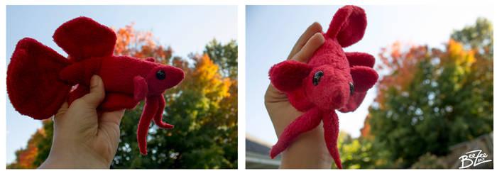 Red Betta Fish Plushie